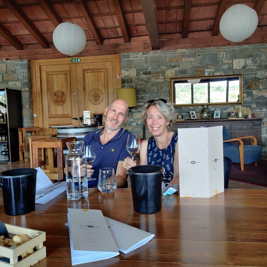Wijnproeven bij Klet Brda