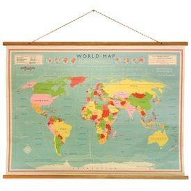 Vintage Wereldkaart | Travelvibe
