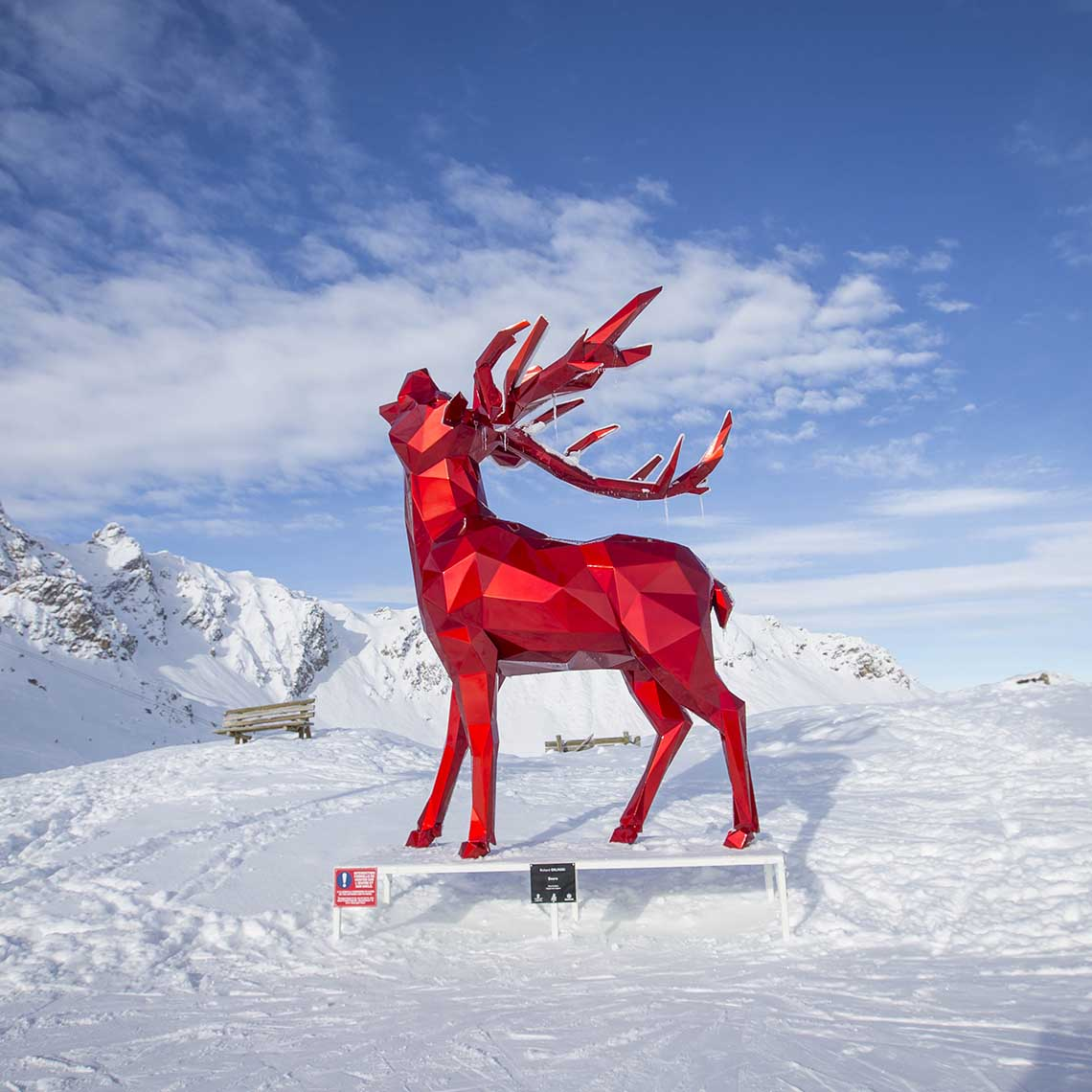 Art on the pistes ©OT Courchevel - Travelvibe