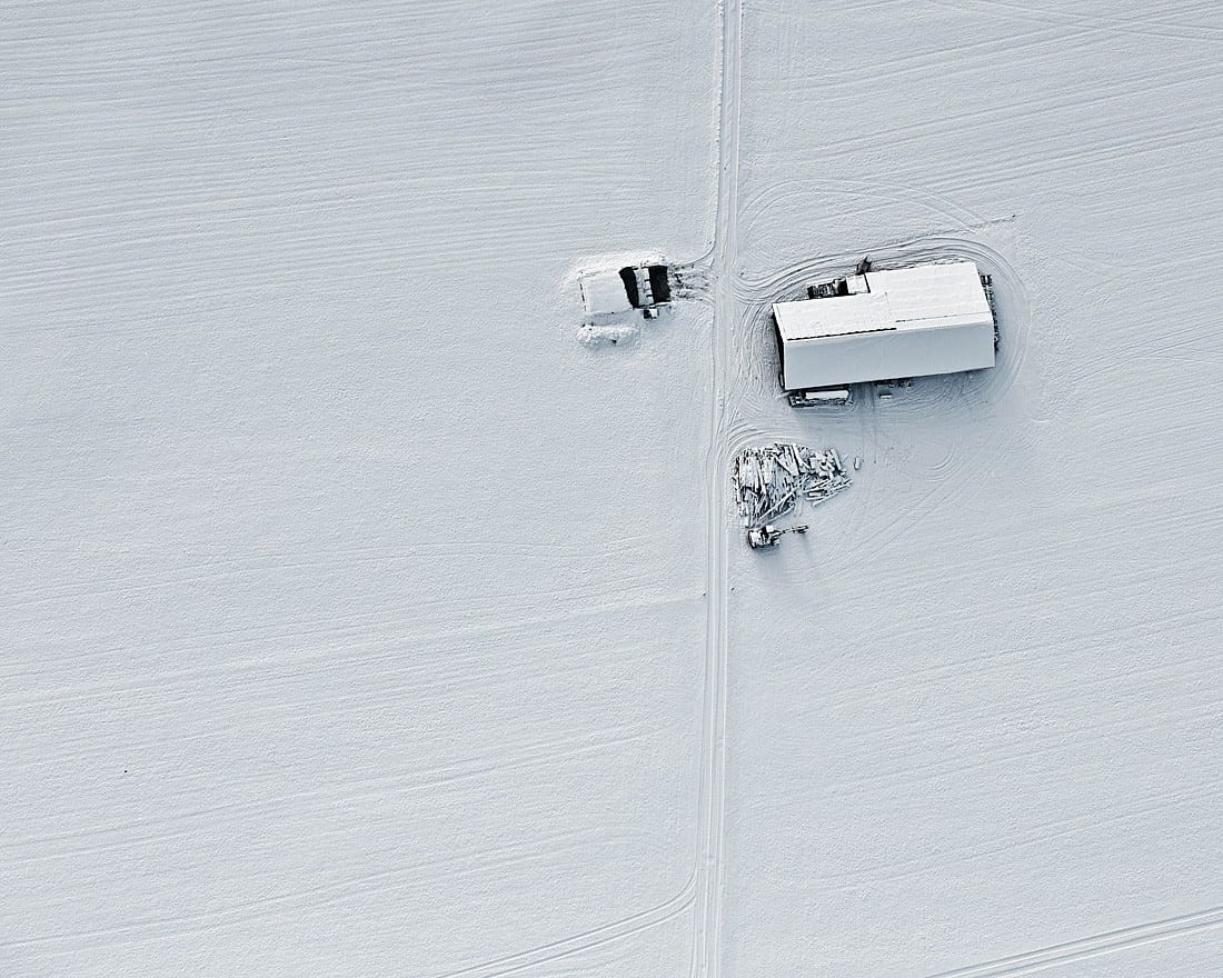 Luchtfoto Winter door Bernhard Lang - Travelvibe