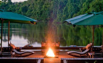 Cristalino Lodge dek bij de rivier2