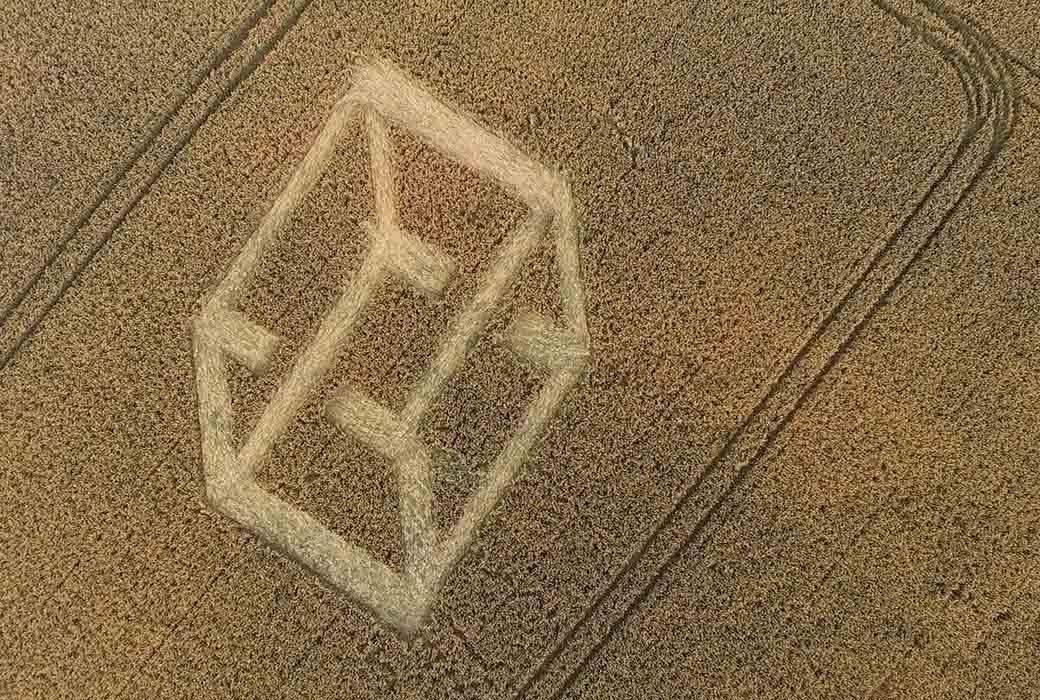 Escher in graanakkers Friesland - Travelvibe