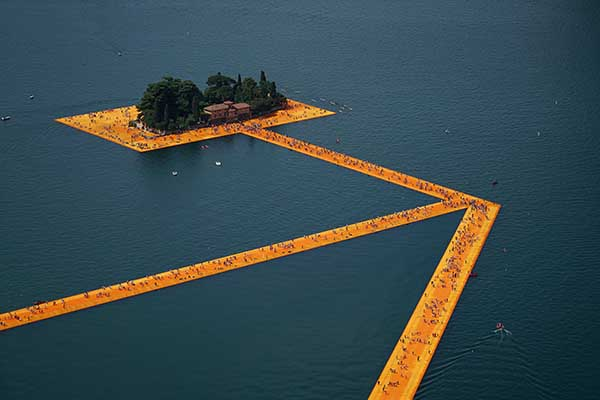 Floating Piers Christo Italie Iseo