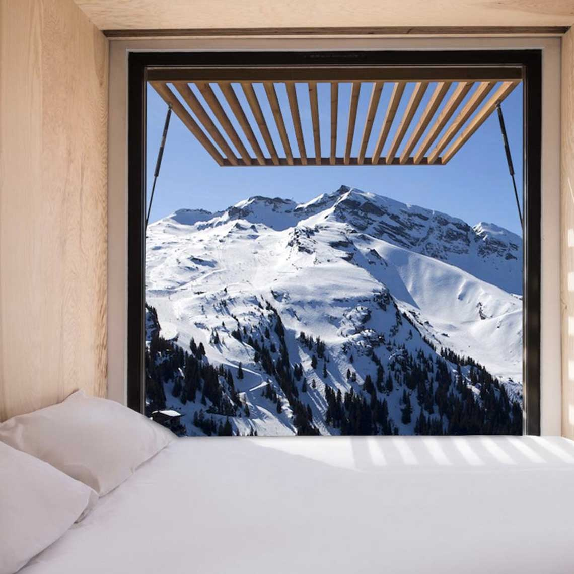Flying nest containerhotel Avoriaz - Travelvibe