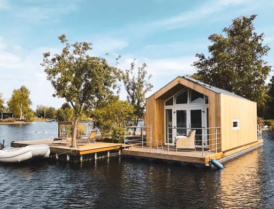 Huisje aan het water Vinkeveense plassen