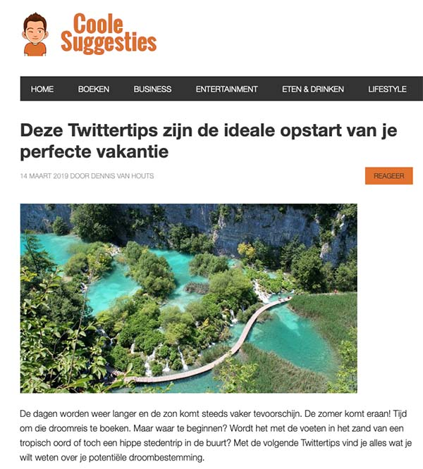 In de media - Coole suggesties - Travelvibe