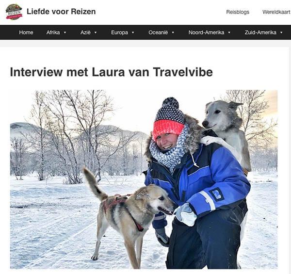 Interview met Laura van Travelvibe - Liefde voor reizen