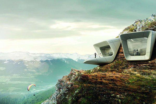 Mesner mountain museum in Italie als een van de mooiste uitkijkpunten van europa