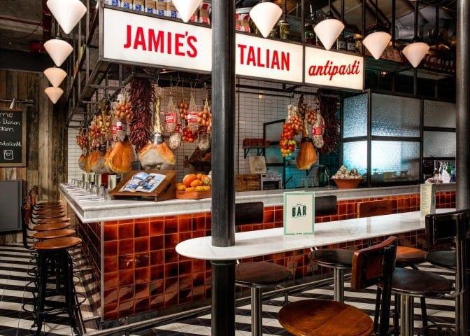 Jamie's Italian in de markthal Rotterdam - Travelvibe