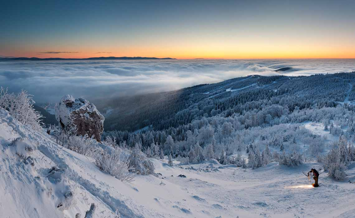 landschap wintersport Tsjechië - Travelvibe