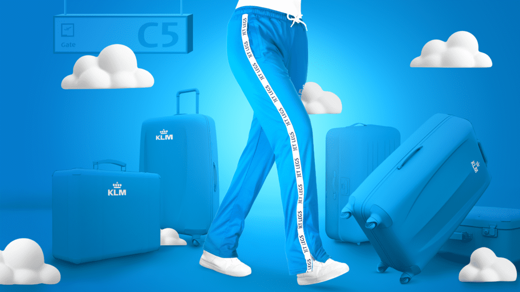 KLM-trainingsbroek - jet legs - Travelvibe