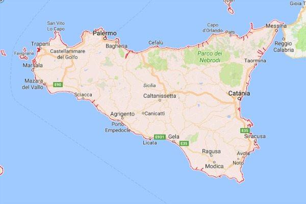 Kaart Sicilie Travelvibe