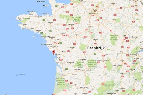 Kaart van Frankrijk Ile de Re