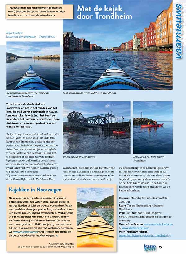 KanoSport kajak in Trondheim - Travelvibe