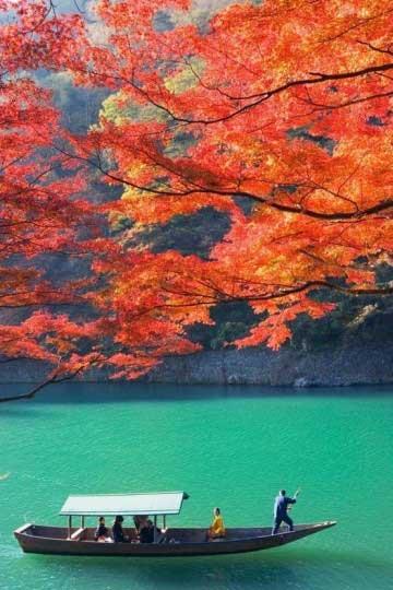 mooie herfstfoto's, Kyoto Japan - Travelvibe