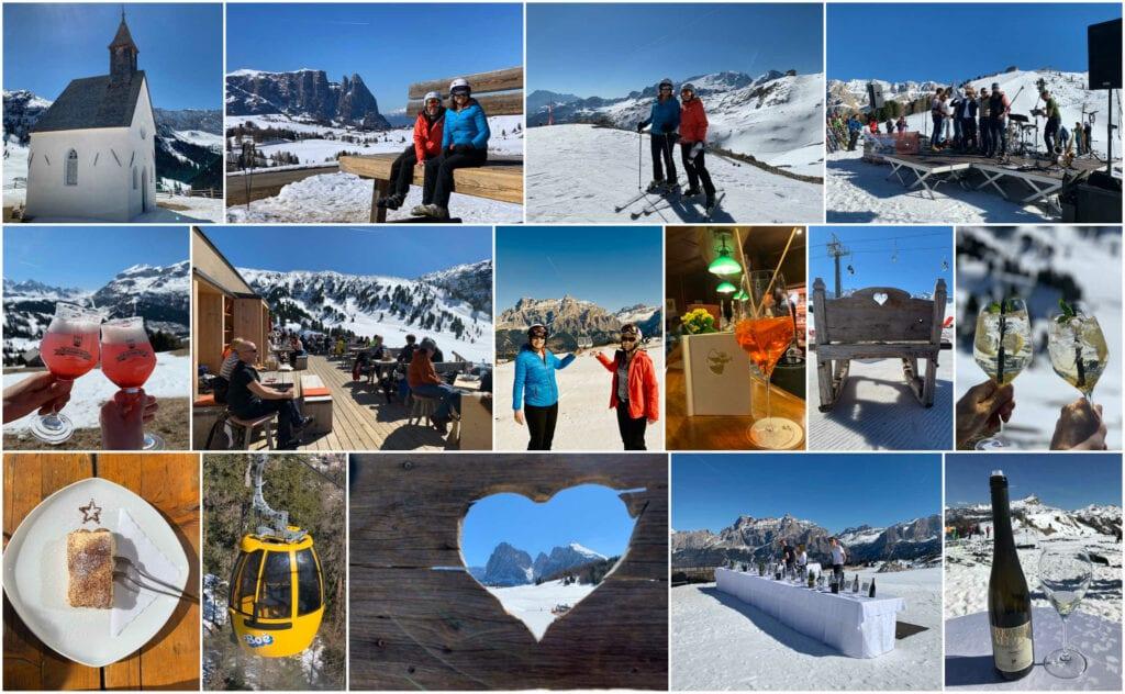 skiën in de Dolomieten