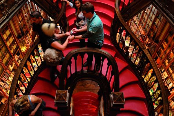 Bekendste boekwinkel in Porto is Livraria Lello & Irmão