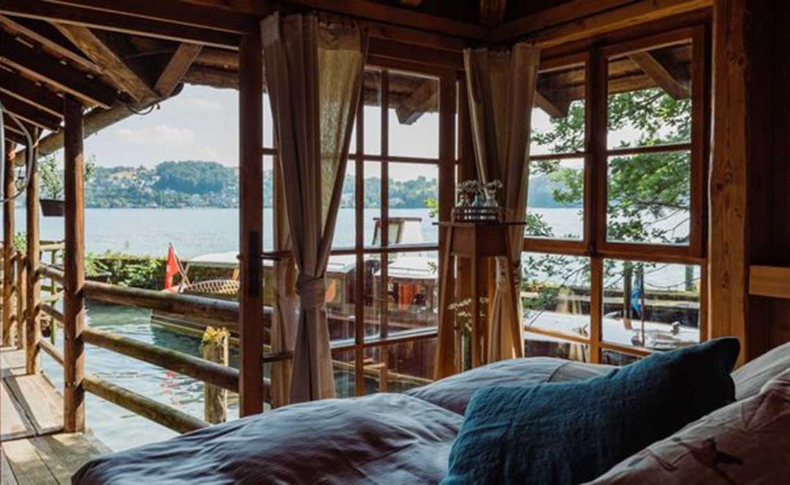 Luzern slapen in een pop-up hotel in Zwitserland - Travelvibe