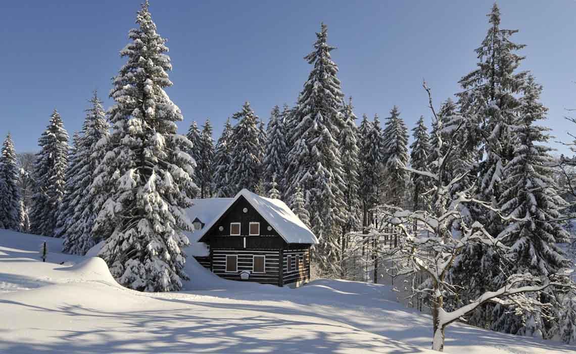 Wintersport landschap Tsjechië - Travelvibe