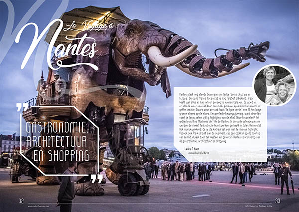 In de media Nantes Frankrijk Magazine - Travelvibe