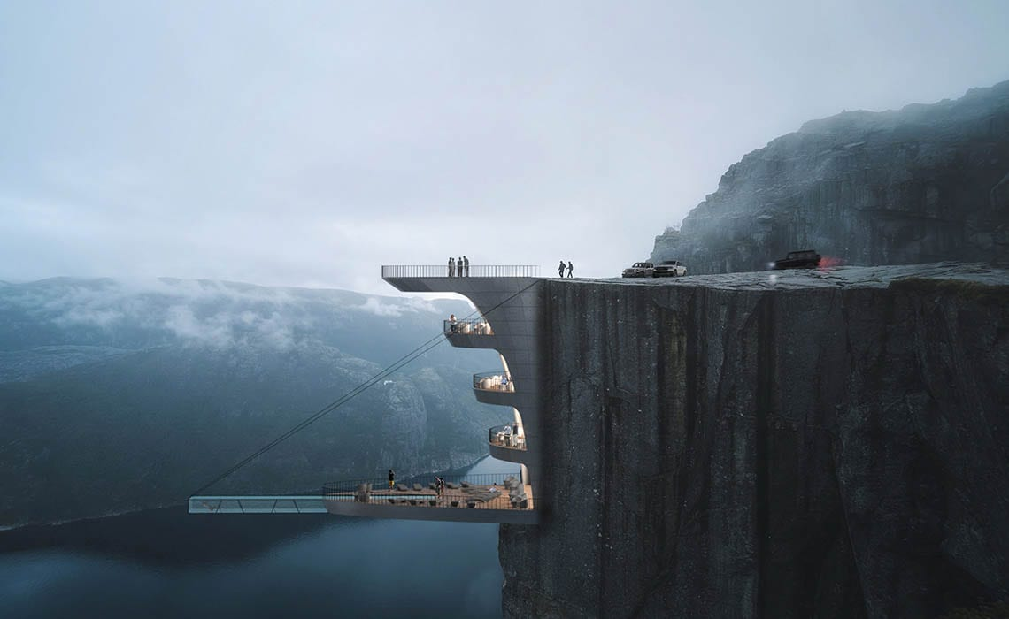 Noors hotel in een klif - Cliff Concept Boutique Hotel - Travelvibe