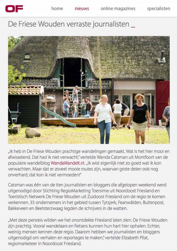 Travelvibe in Ondernemend Friesland Nieuws 30-08-2017