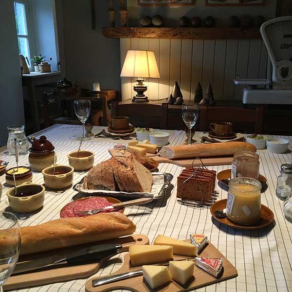 Ontbijt bij BandB La bergerie Falaen - Travelvibe