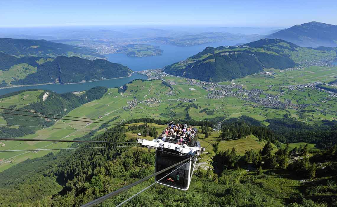 Op het dak van de gondel - CabriO_Stanserhorn - Travelvibe