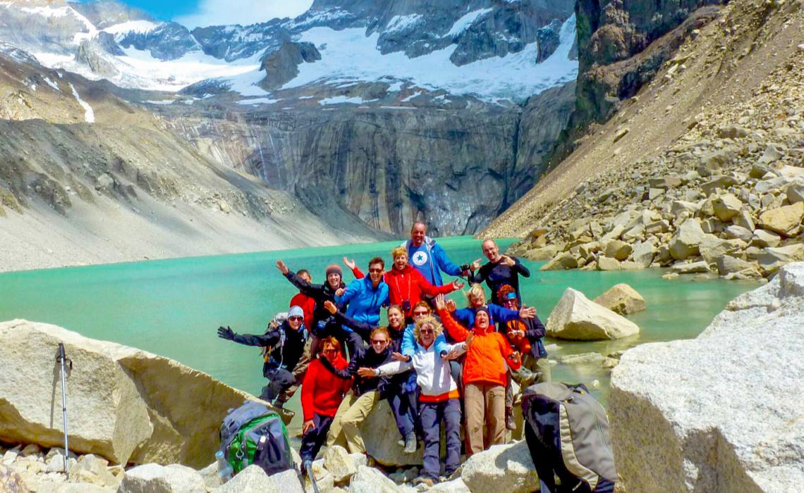 atagonie - Torres del Paine - groepsfoto Michele-2