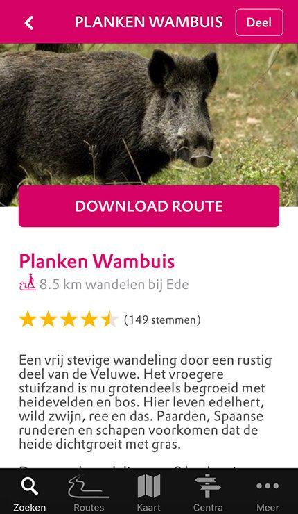 Planken Wambuis Natuur Routes