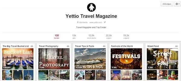 Reistips op Pinterest, Yettio - Travelvibe