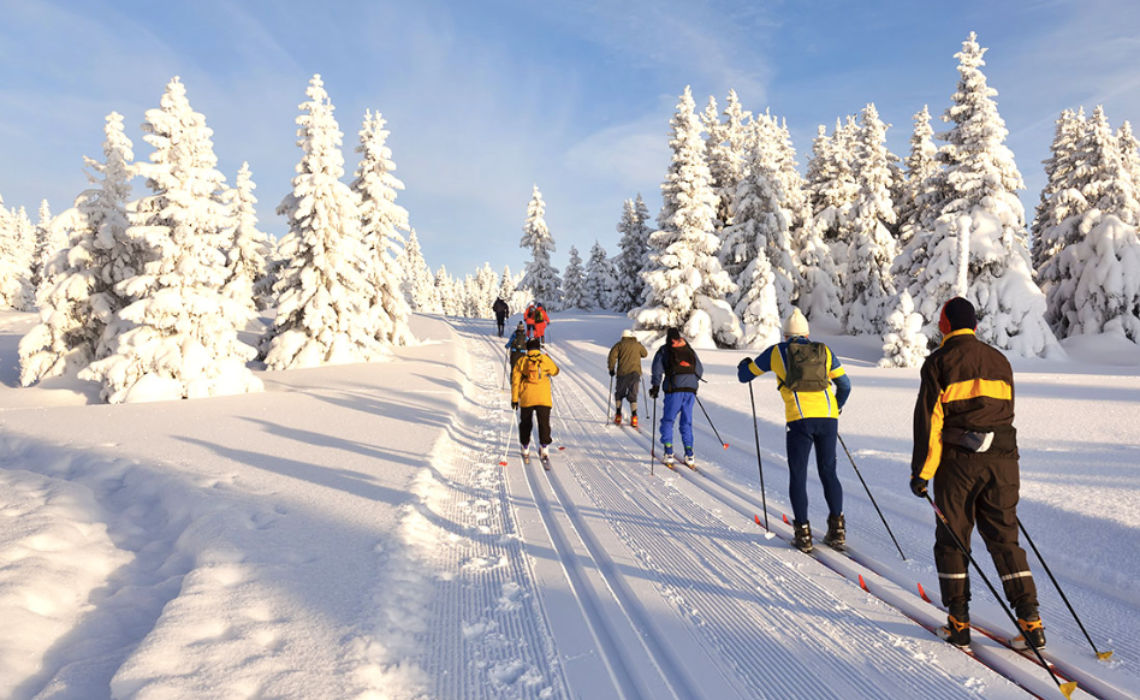 Skien en langlaufen in de Ardennen