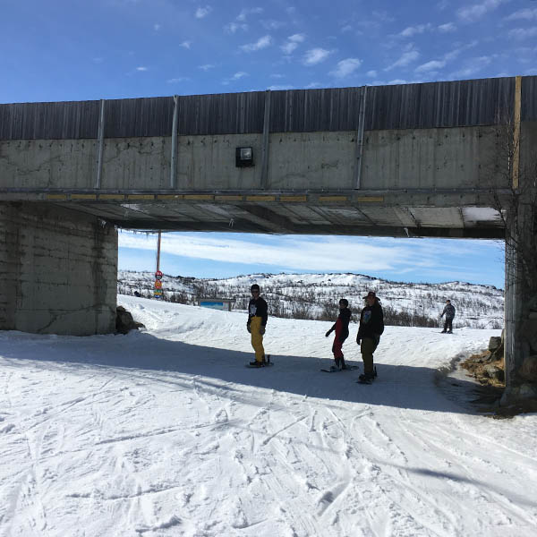 Snowboarden in Geilo Noorwegen