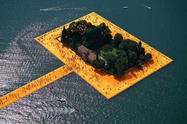 The Floating Piers Italie Iseo Christo