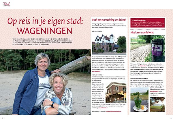 Travelvibe in de media - Proef Wageningen Magazine