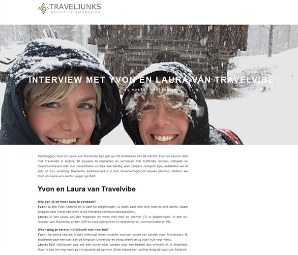 Travelvibe Interview op Traveljunks