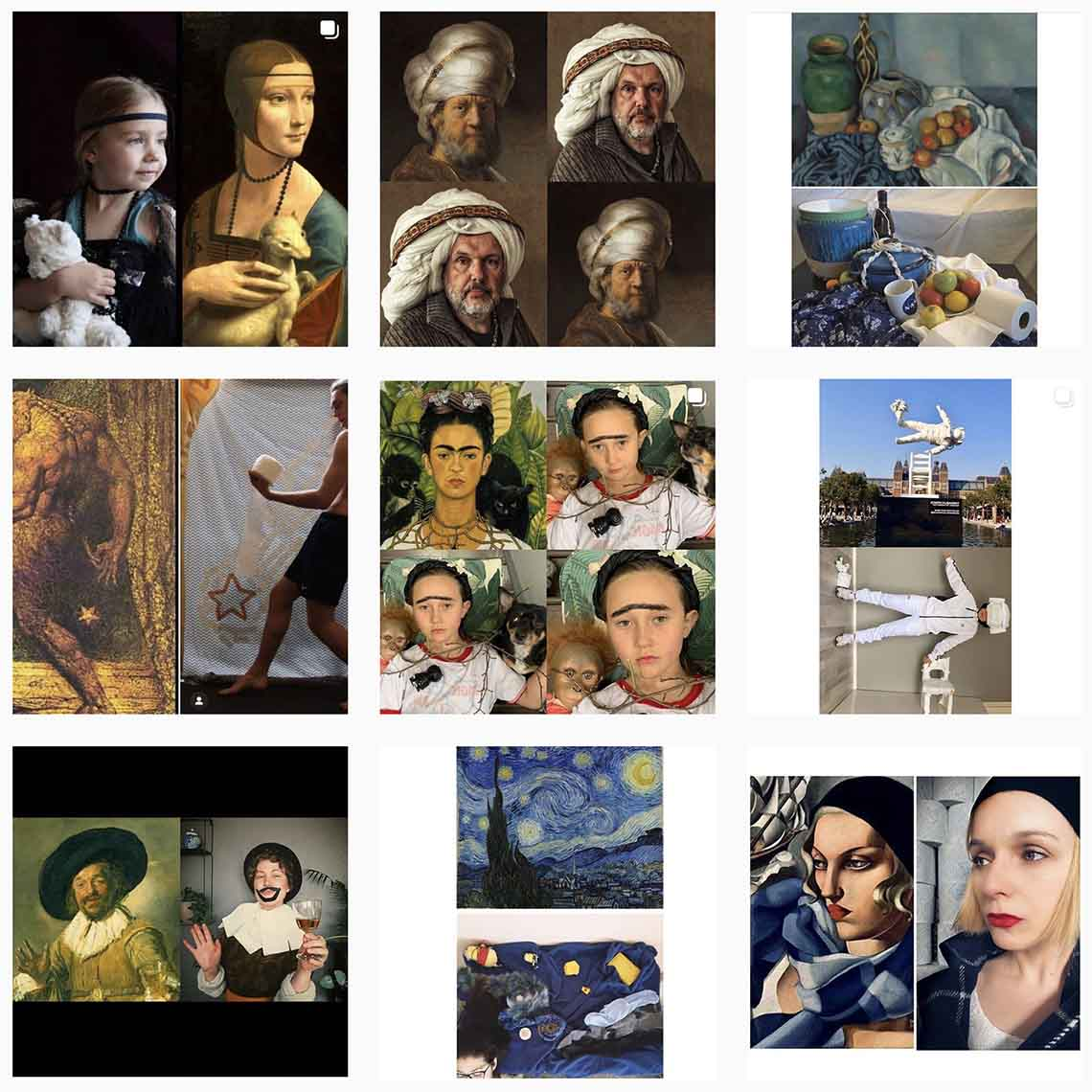 Tussen kunst en quarantaine op instagram - Travelvibe