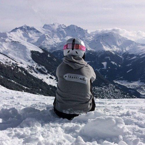Uitzicht bergtoppen Verbier Travelvibe