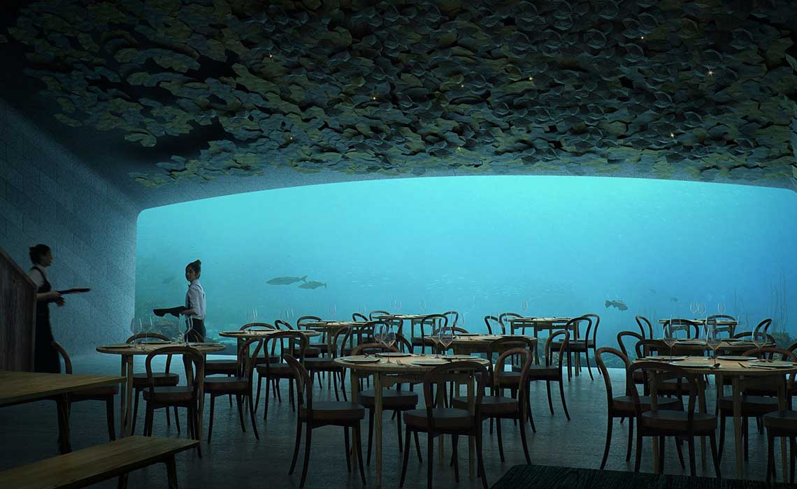 Under Onderwaterrestaurant Noorwegen - Travelvibe