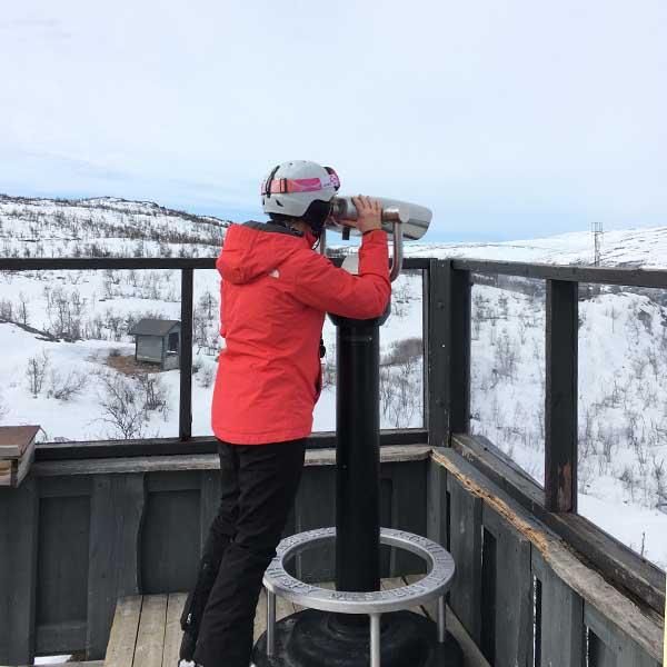 Viewpoint Toppen cafe Vestilia in Geilo Noorwegen op het wintersportgebied