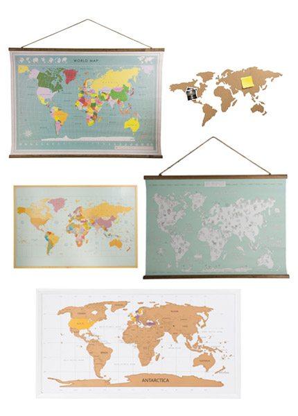 Wereldkaarten bij Xenos - Travelvibe