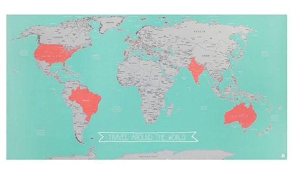 wereldkaart hema - Travelvibe