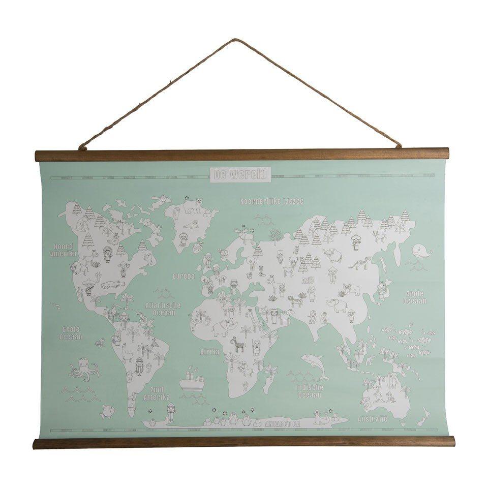 Wereldkaart bij Xenos om in te kleuren - Travelvibe