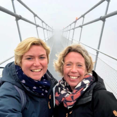 Yvon en Laura van Travelvibe op Highline 179