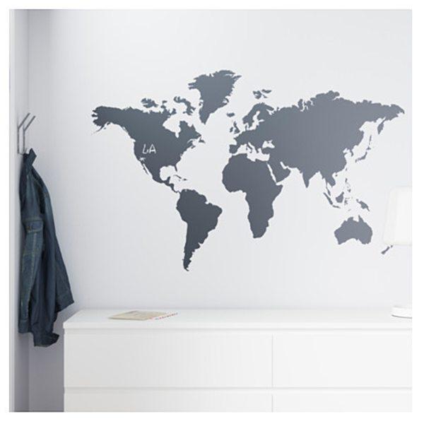 Zelfklevende-wereldkaart IKEA - Travelvibe