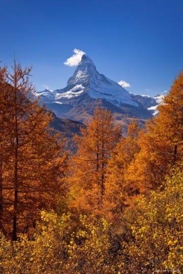 Zermatt herfst, mooie herfstfoto's - Travelvibe