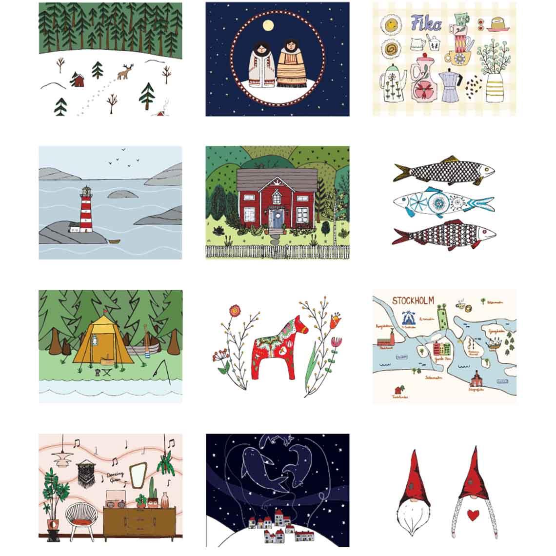 Zweden kalender Studio Kvinna 2020 - Travelvibe