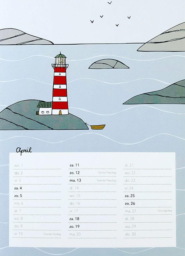 Zweden kalender Studio Kvinna April - Travelvibe