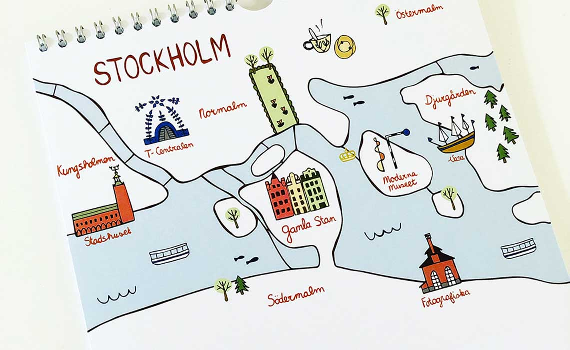 Zweden kalender Studio Kvinna september - Travelvibe
