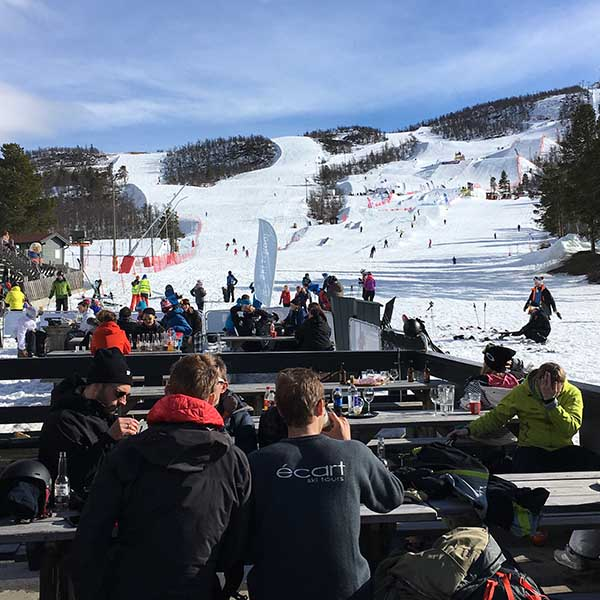 skipiste en après ski in Geilo Noorwegen